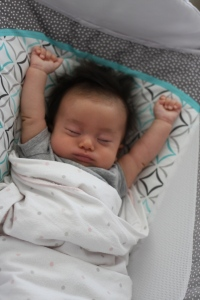 Baby E catching some Zzz's in the Rock n Play